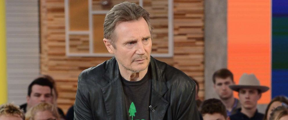 "PHOTO: Liam Neeson appears on ""Good Morning America,"" Feb. 2019."