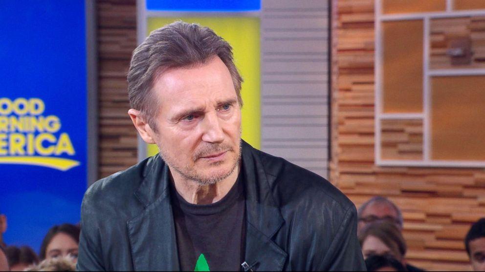 PHOTO: Liam Neeson appears on Good Morning America, Feb. 5, 2019.