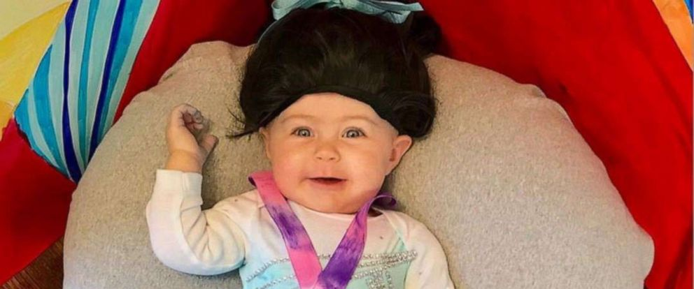 PHOTO: Mom Jenelle Wexler of Illinois, shared the photo of Liberty, 1, in honor of Biles making history last weekend with two new moves -- earning the gymnast her sixth title at the 2019 U.S. Gymnastics Championships in Kansas City, Missouri.