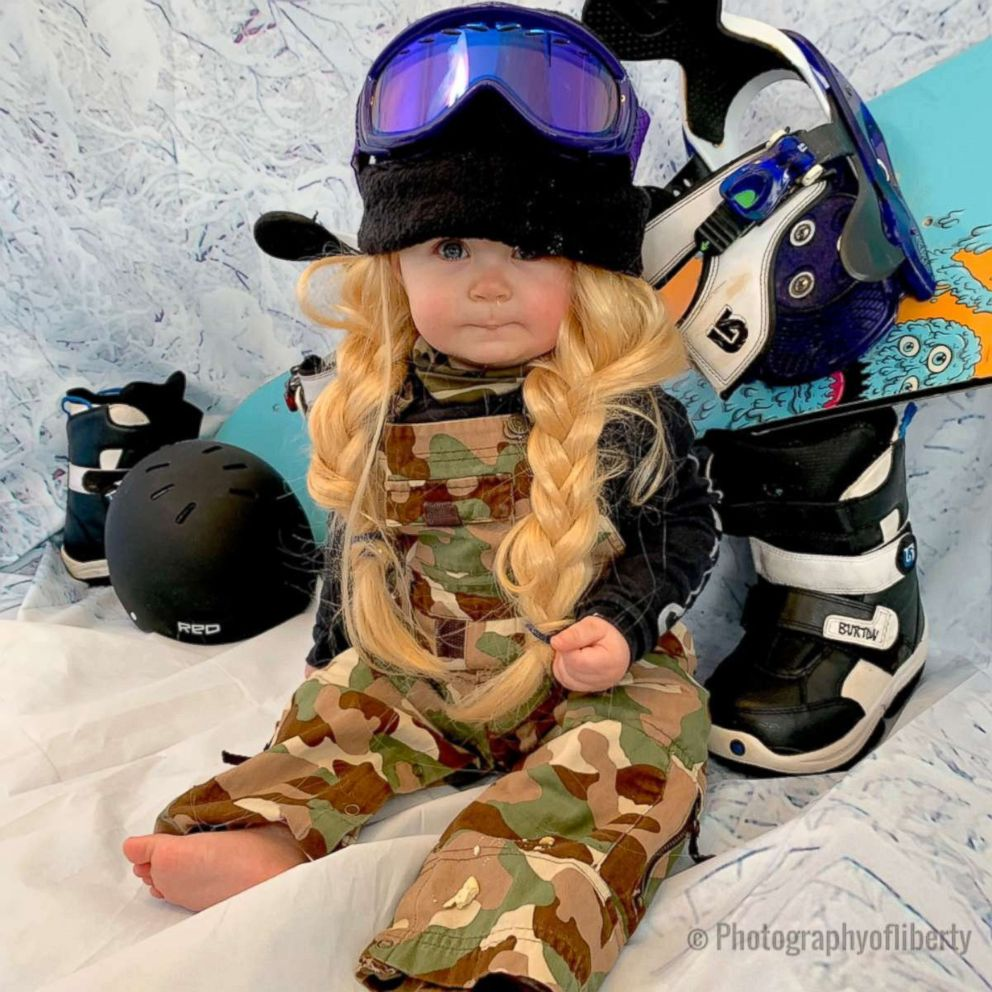 PHOTO: Liberty Wexler, now 10 months, received a lot of love on Instagram dressed as powerful females and now she has been shown in new looks, including American snowboarder Chloe Kim.