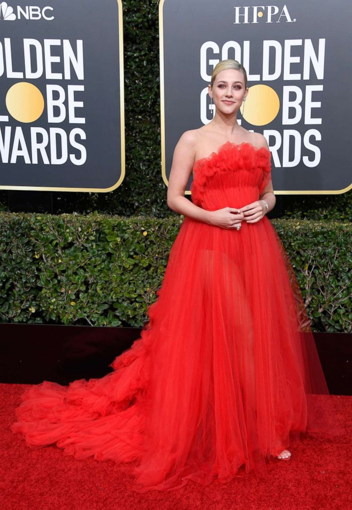 Lili Reinhart attends the 76th annual Golden Globe awards at the Beverly Hilton Hotel, Jan. 6, 2019 in Beverly Hills, Calif.
