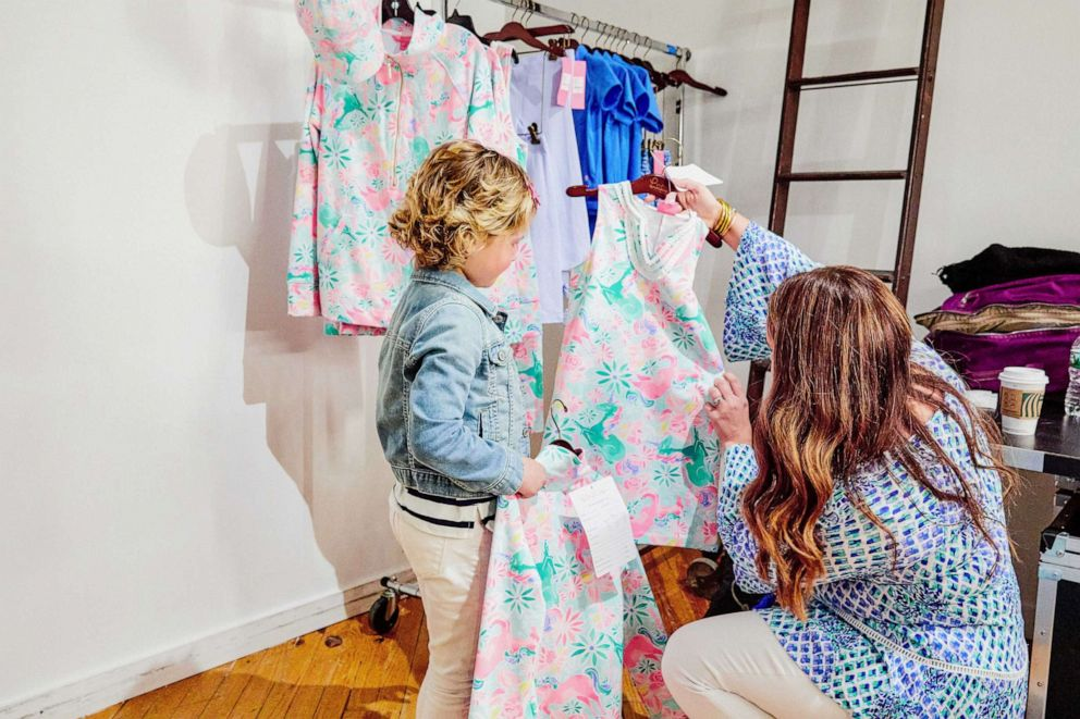 PHOTO: Mary works with a Lilly Pulitzer designer to create her Magical Mary print.