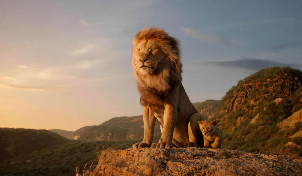 PHOTO: This image released by Disney shows characters, from left, Mufasa, voiced by James Earl Jones, and young Simba, voiced by JD McCrary, in a scene from The Lion King.