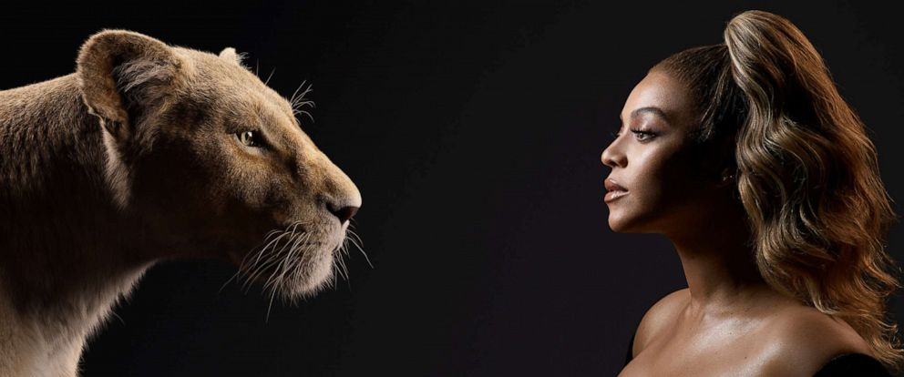 """PHOTO: Beyonce Knowles-Carter appears beside her """"Lion King"""" character, Nala."""