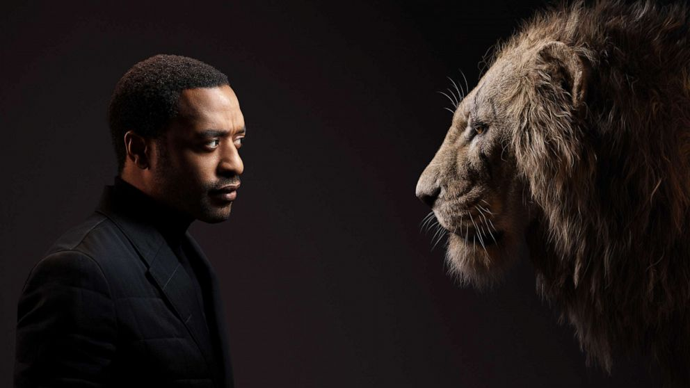 PHOTO: Chiwetel Ejiofor appears beside his Lion King character, Scar.