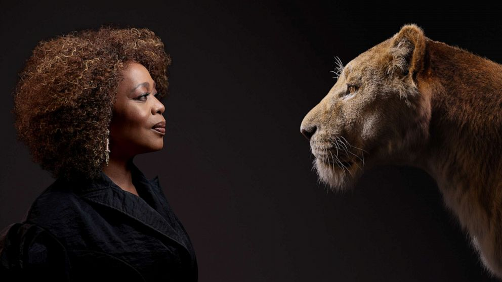 PHOTO: Alfre Woodard appears beside her Lion King character, Sarabi.