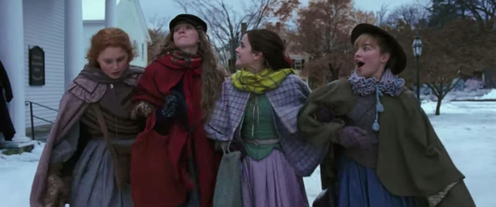 """PHOTO: The cast of """"Little Women"""" is seen in this grab from the official trailer."""