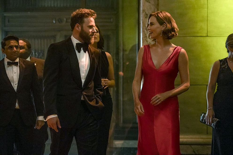 PHOTO: Seth Rogen, as Fred Flarsky, and Charlize Theron, as Charlotte Field, in a scene from Long Shot.