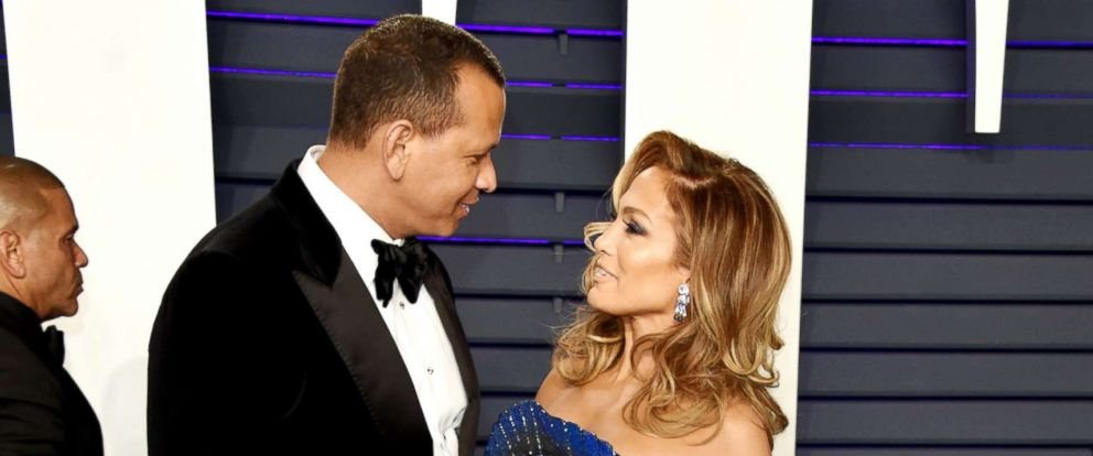 PHOTO: Alex Rodriguez and Jennifer Lopez attend a party on Feb. 24, 2019, in Beverly Hills, Calif.