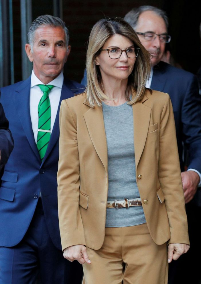 PHOTO: Actress Lori Loughlin and husband Mossimo Giannulli leave federal court in Boston, April 3, 2019.