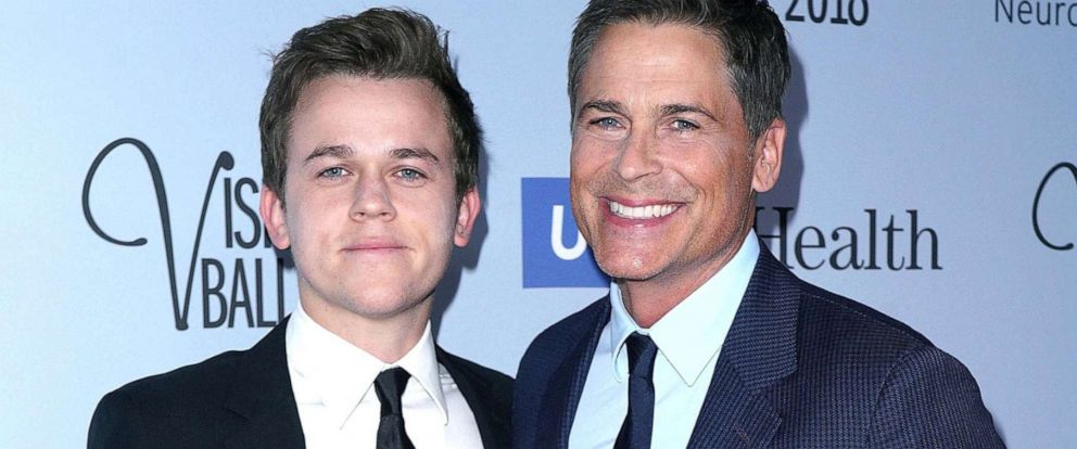 PHOTO: Rob Lowe and son John Owen Lowe attend the 2018 Visionary Ball benefiting the UCLA department of neurosurgery at The Beverly Hilton Hotel, Octo. 18, 2018, in Beverly Hills, Calif.