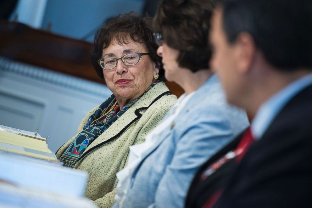 PHOTO: Rep. Nita Lowey, D-N.Y., is seen during a House Appropriations Homeland Security Subcommittee markup of the FY2019 Homeland Security Appropriations bill, July 19, 2018, in Washington D.C.