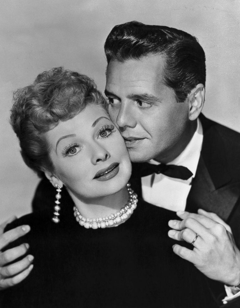 PHOTO: Lucille Ball and Desi Arnaz are pictured together, circa 1955.