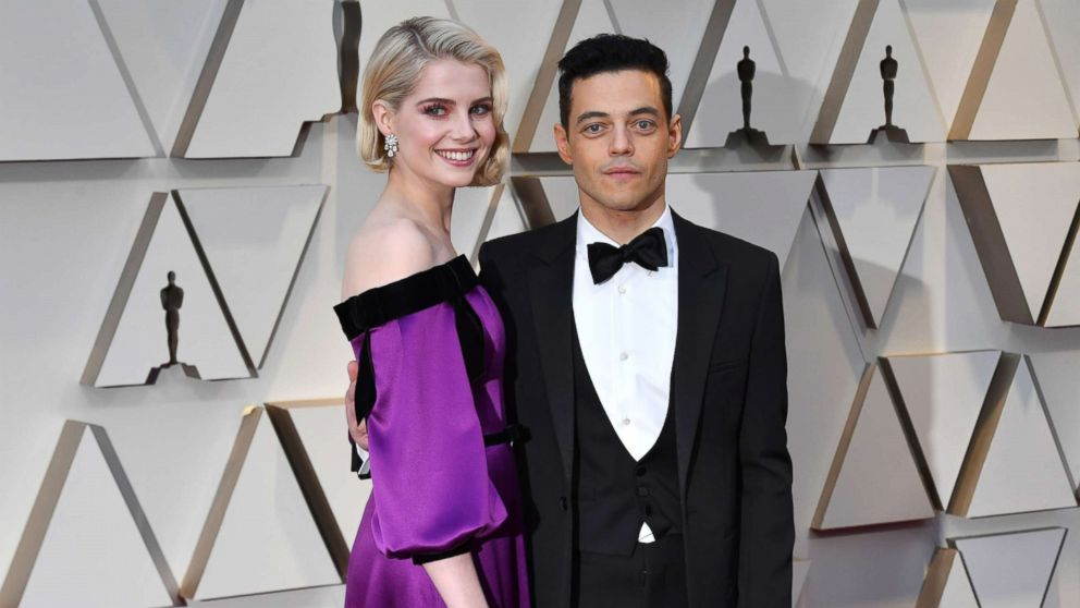 Lucy Boynton and Rami Malek attends the 91st Annual Academy Awards at Hollywood and Highland, Feb. 24, 2019, in Hollywood, Calif.