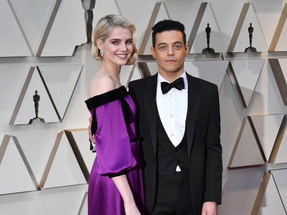 PHOTO: Lucy Boynton and Rami Malek attends the 91st Annual Academy Awards at Hollywood and Highland, Feb. 24, 2019, in Hollywood, Calif.