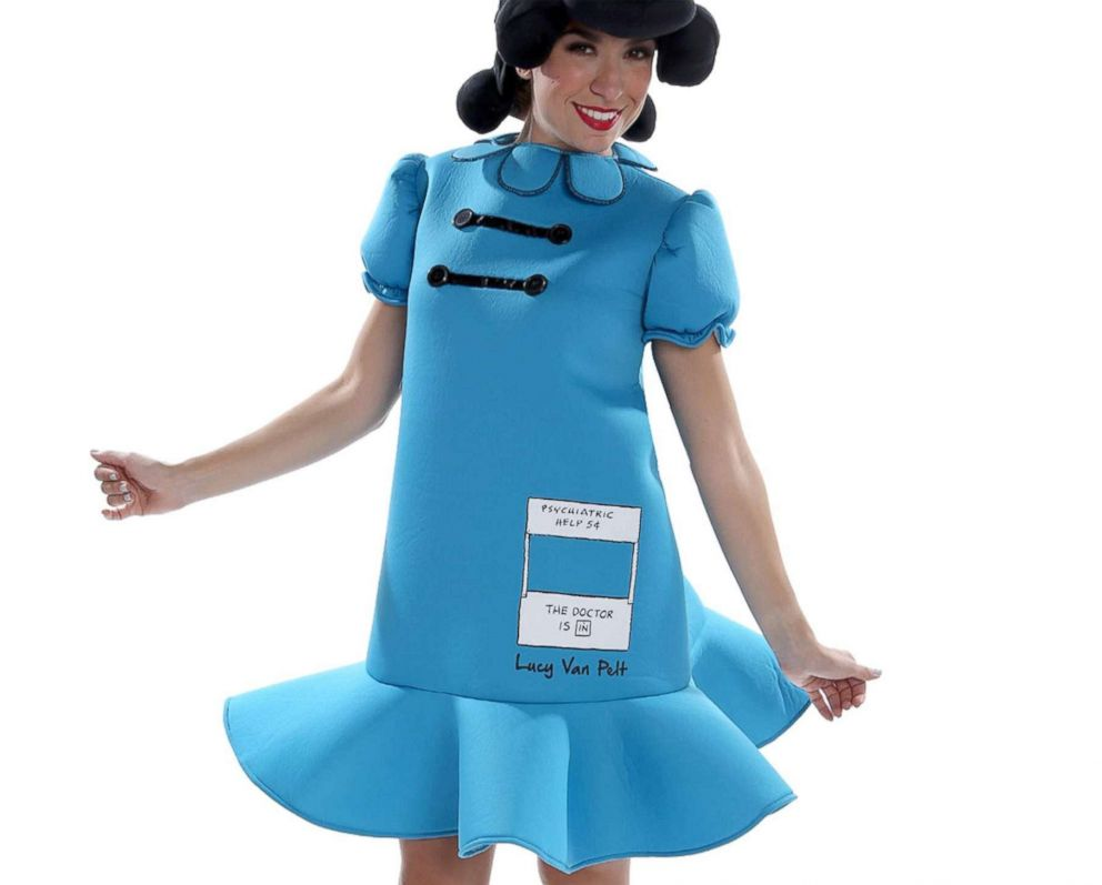 PHOTO: The Adult Lucy van Pelt Deluxe Costume – Peanuts is available for $59.99.