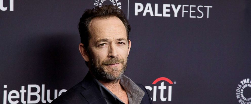 "PHOTO: Luke Perry arrives for the 2018 PaleyFest Los Angeles - CWs ""Riverdale"" at Dolby Theatre, March 25, 2018, in Hollywood, Calif."