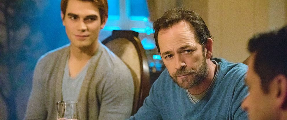 "PHOTO: KJ Apa and Luke Perry appear on an episode of ""Riverlade."""