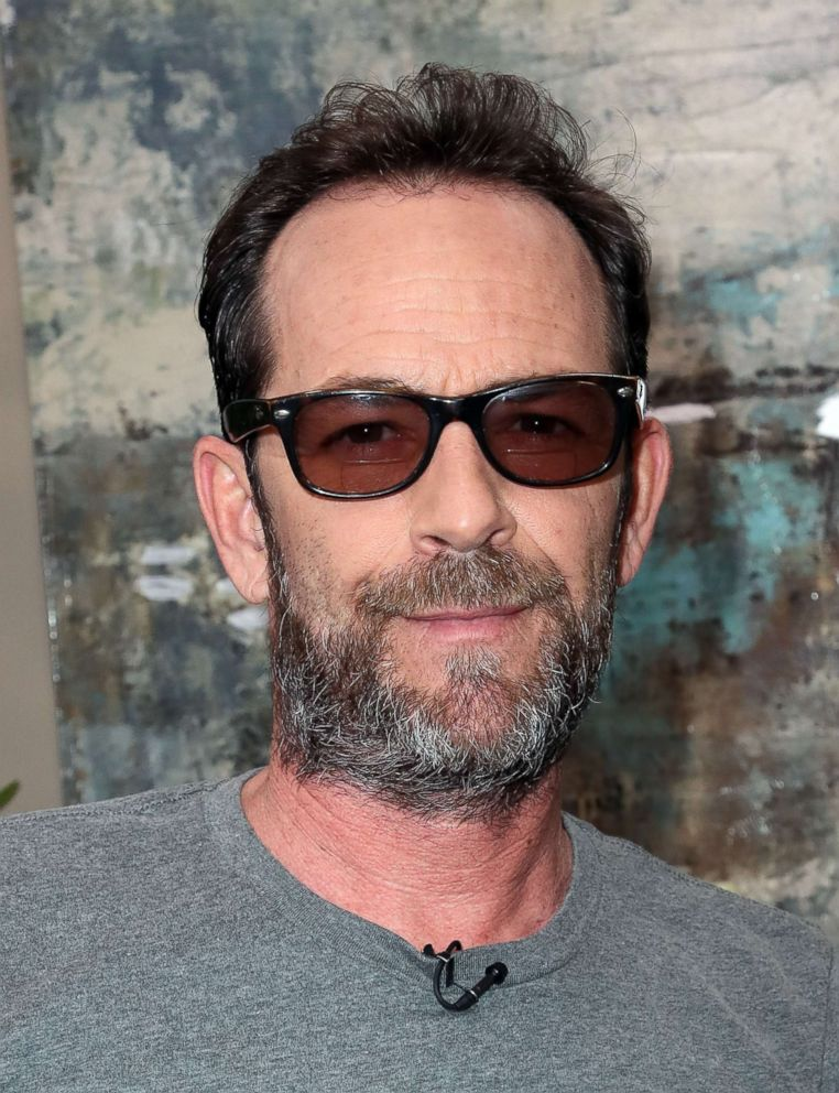 PHOTO: Actor Luke Perry visits Hallmarks Home & Family at Universal Studios Hollywood, March 30, 2018, in Universal City, Calif.