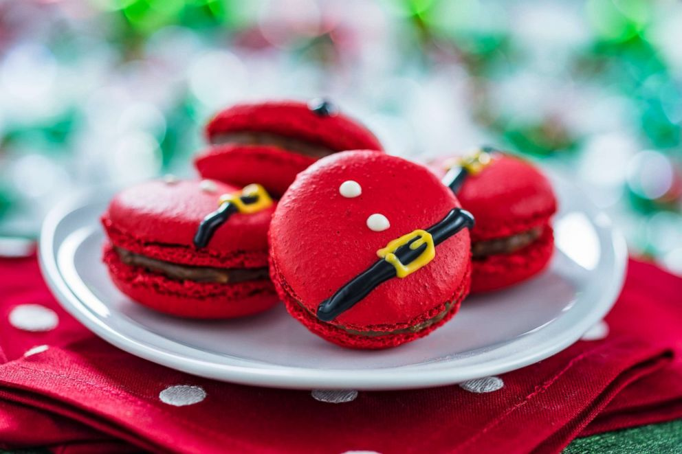 PHOTO: Santa Belt Macarons are made of almond with hazelnut filling and come in packages of five.