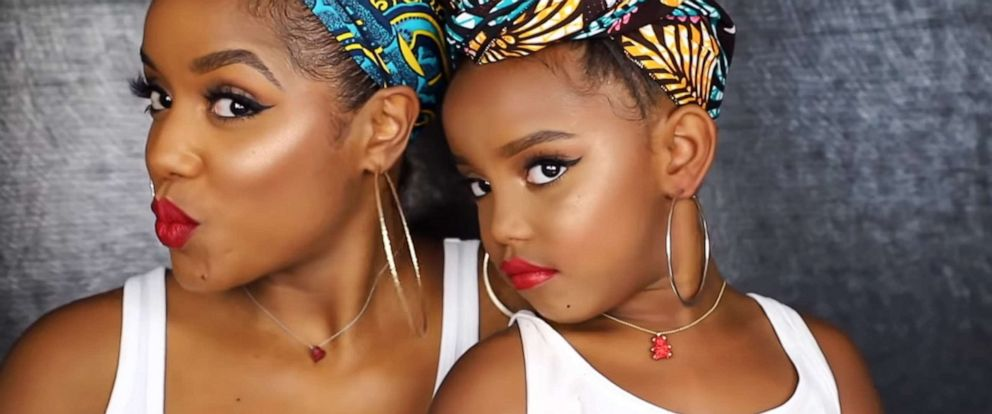 PHOTO: Beauty influencer Ellarie and daughter Yoshidoll create cute makeup tutorials together.