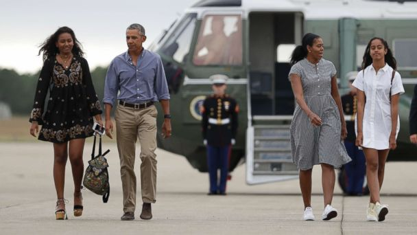 Michelle Obama says Malia and Sasha are 'thriving,' thanks to Jenna and Barbara Bush and Chelsea Clinton who 'always had their backs'