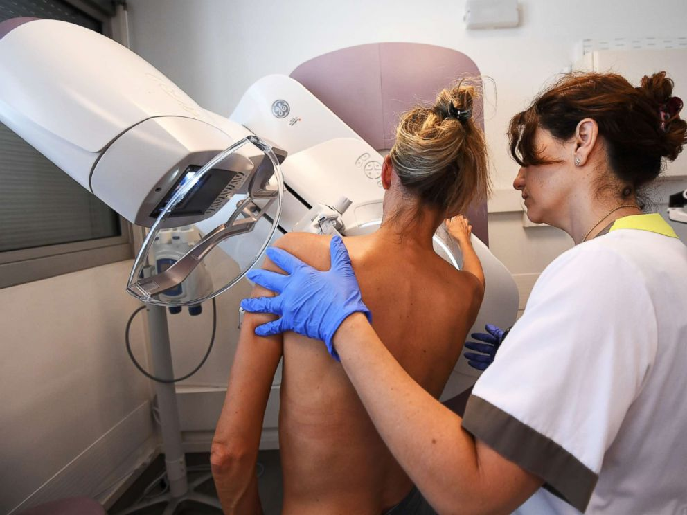 PHOTO: A patient has a mammogram in France on Oct. 9, 2017.