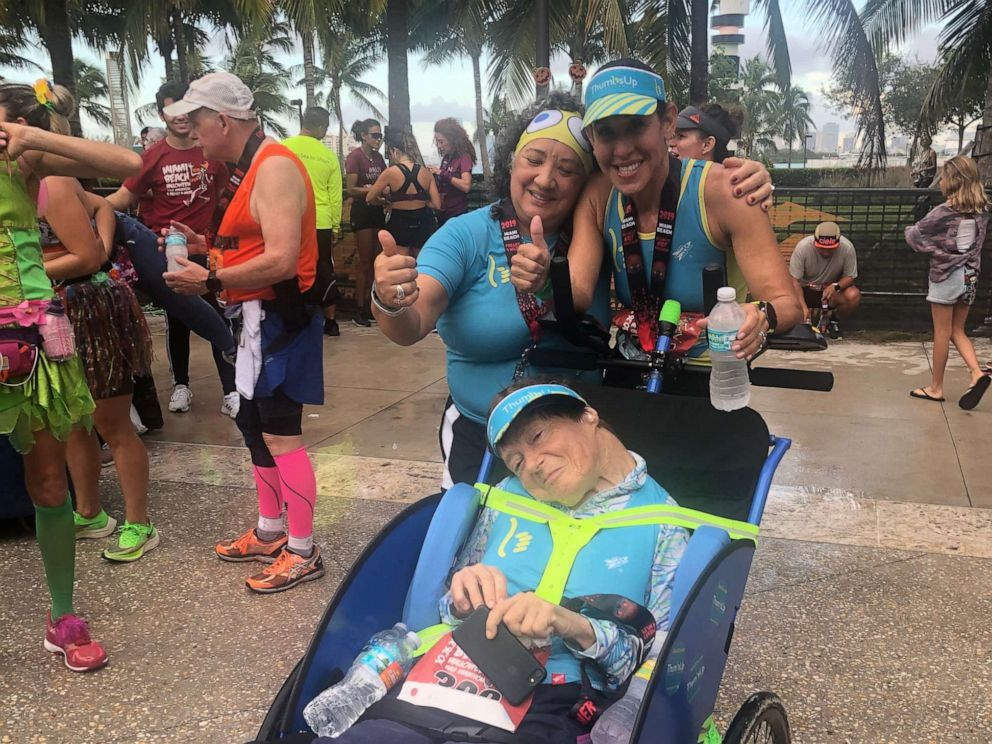 PHOTO: Gruson and Lubetsky at the 2019 Miami Beach Halloween Half Marathon.