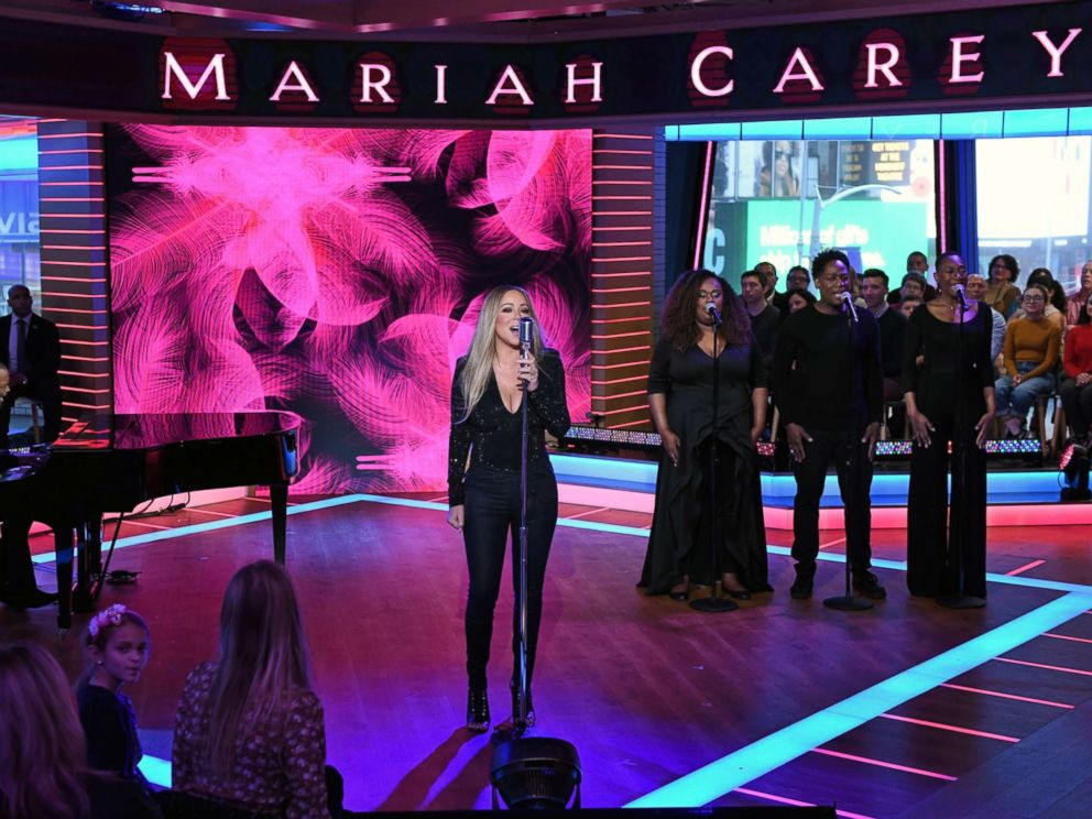 PHOTO: Mariah Carey performs live on Good Morning America, Nov. 19, 2018, on ABC.