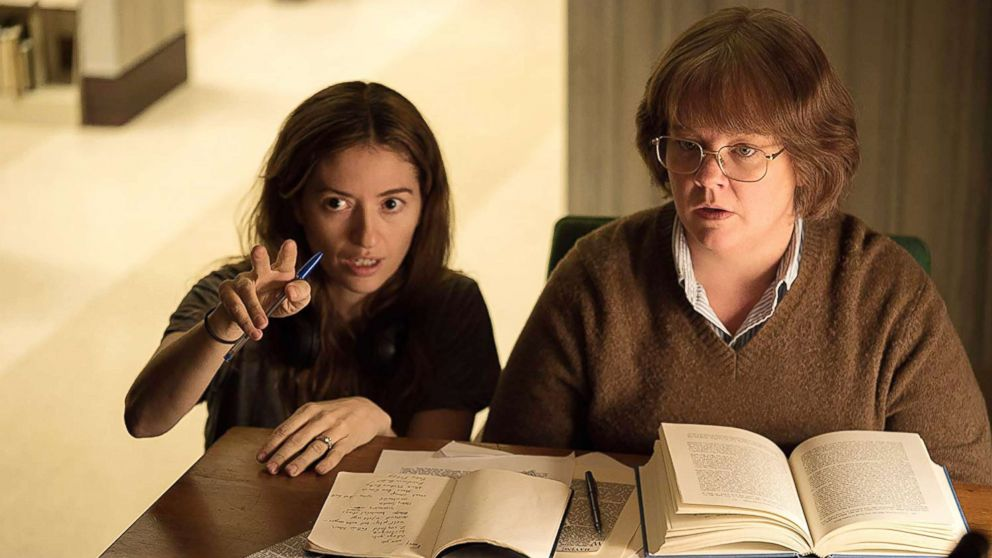 "Melissa McCarthy and Marielle Heller are pictured on the set of ""Can You Ever Forgive Me?"""