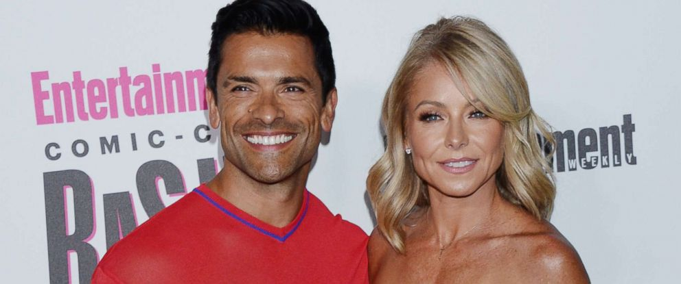 PHOTO: Mark Consuelos and Kelly Ripa at the Entertainment Weekly party Comic-Con International, July 21, 2018, in San Diego, Calif.