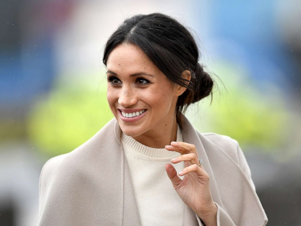 PHOTO: Meghan Markle is seen ahead of her visit with Prince Harry to the iconic Titanic Belfast during their trip to Northern Ireland on March 23, 2018 in Belfast, Northern Ireland.