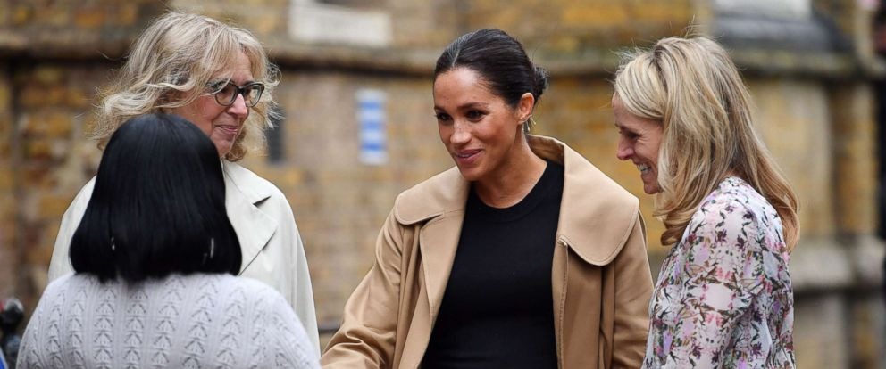 PHOTO: Meghan Markle, Duchess of Sussex arrives at St Charles hospital in west London to visit Smart Works, a charity to which she has become patron, Jan. 10, 2019.