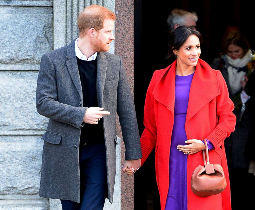 The Duke and Duchess Of Sussex depart from Birkenhead Town Hall, Jan. 14, 2019, in Birkenhead, England.
