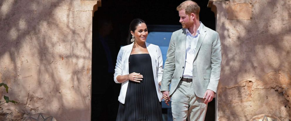 PHOTO:Prince Harry and his Meghan, Duke & Duchess of Sussex, visit the Kasbah of the Udayas near the Moroccan capital Rabat, Feb. 25, 2019.