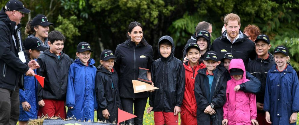 PHOTO: Prince Harry and Meghan Markle The Duke and Duchess of Sussex, visit the North Shore to dedicate a 20-hectare area of native bush to the Queens Commonwealth Canopy in Auckland, New Zealand, Oct. 30, 2018.