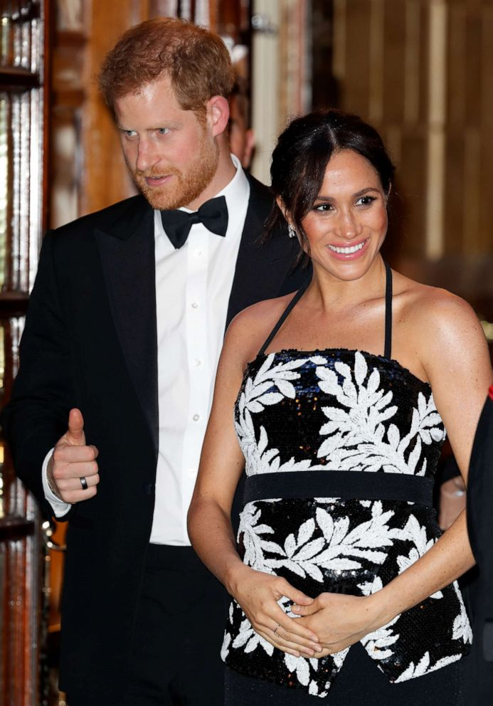 PHOTO: Prince Harry, Duke of Sussex and Meghan, Duchess of Sussex attend The Royal Variety Performance 2018 at the London Palladium, Nov. 19, 2018, in London.