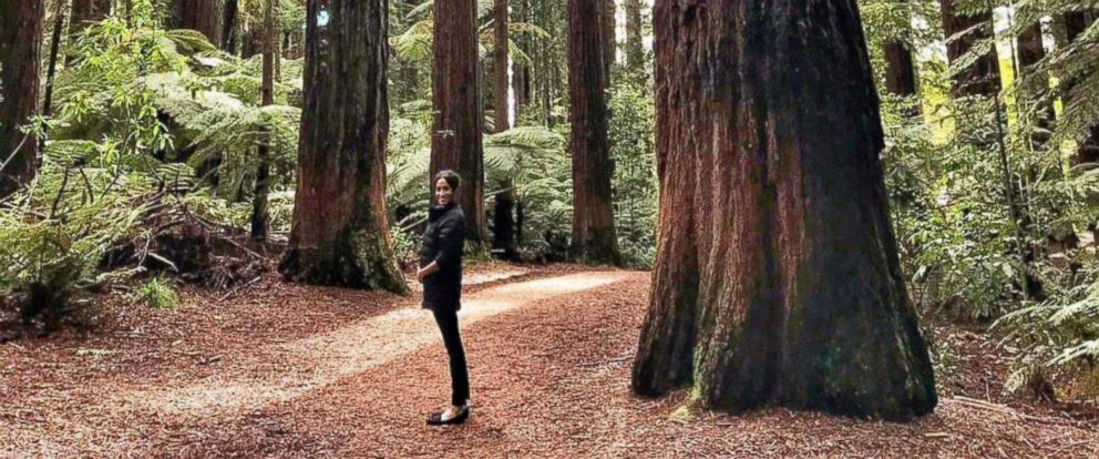 PHOTO: Meghan Markle, The Duchess of Sussex, in the Redwoods forest in Rotorua, New Zealand.