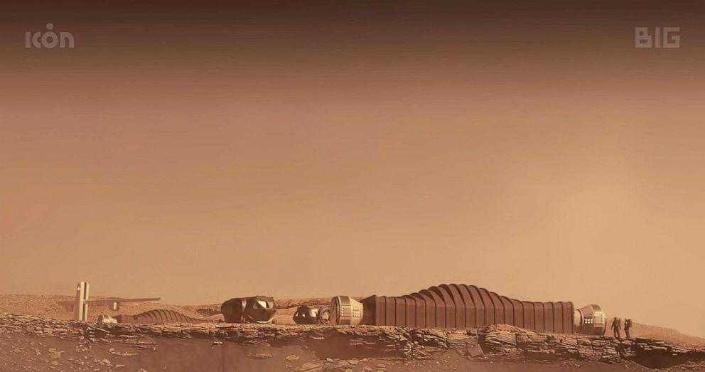 PHOTO: A proposal for the Mars Dune Alpha habitat on Mars.