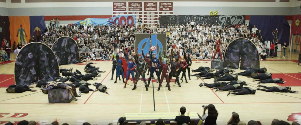 PHOTO: The 7 minute long Marvel-themed dance routine featured students dressed as all of the Avenger characters.