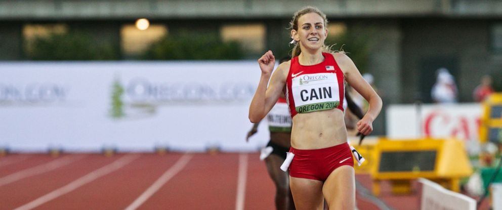 PHOTO: In this July 24, 2014, file photo, Team USAs Mary Cain wins the 3000-meter run at Hayward Field for the IAAF World Junior Championships in Eugene, Oregon.