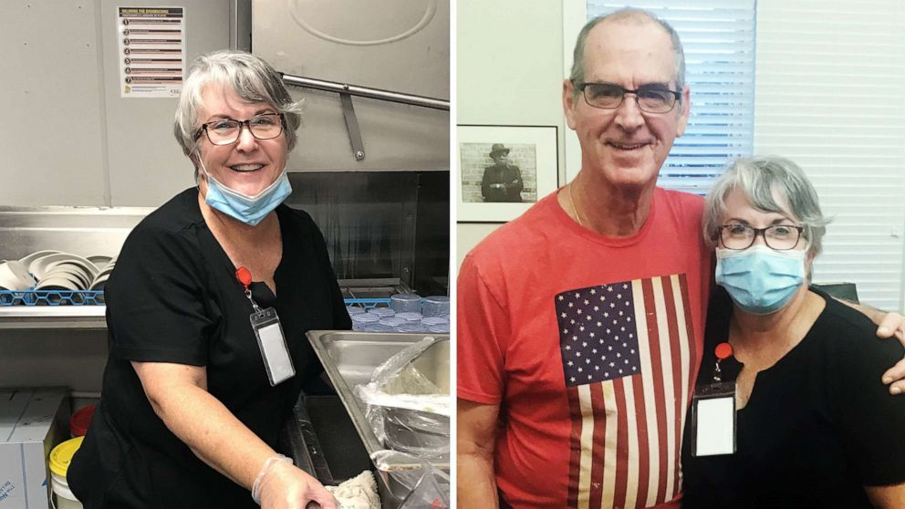 Florida woman takes dishwashing job so she can visit husband with Alzheimer's during pandemic