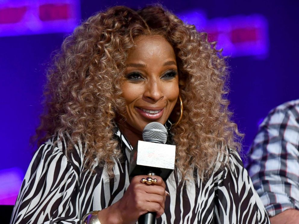 PHOTO: Mary J. Blige speaks on a panel during New York Comic Con 2018 at Jacob K. Javits Convention Center on Oct. 5, 2018 in New York City.