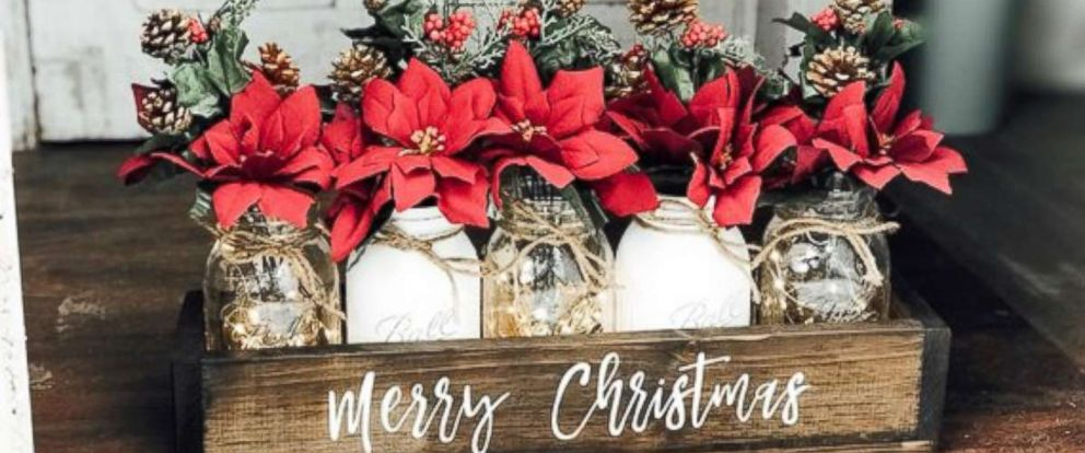 PHOTO: These Christmas-themed mason jars are available on Etsy.