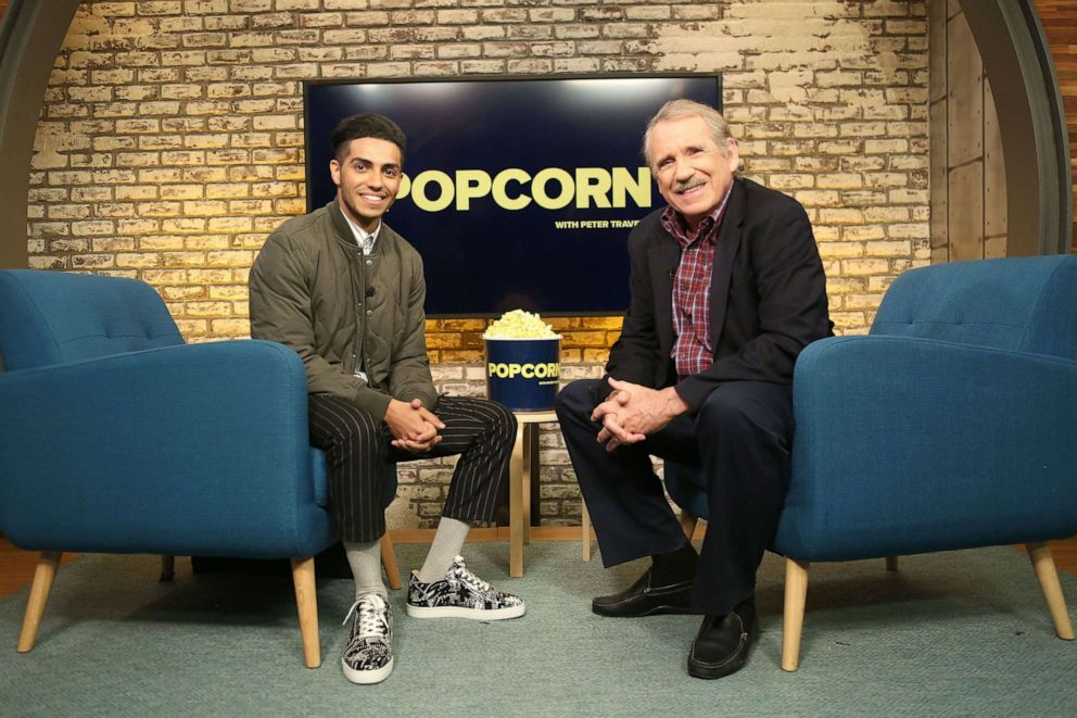 PHOTO: Mena Massoud apepars on Popcorn with Peter Travers at ABC News studios, May 7, 2019, in New York City.