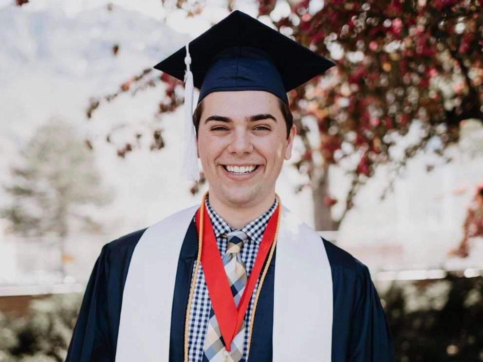 PHOTO: Brigham Young University student Matt Easton came out as gay during his convocation speech on April 26, 2019.