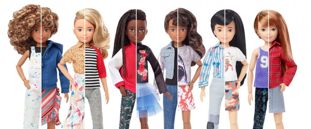 PHOTO: Mattel, the maker of Barbie, has announced the launch of Creatable World — a customizable doll kit allowing kids to create their own toys.