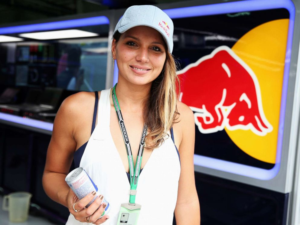 PHOTO: Surfer Maya Gabeira is seen in the Infiniti Red Bull Racing garage during practice for the Malaysia Formula One Grand Prix at the Sepang Circuit on March 28, 2014 in Kuala Lumpur, Malaysia.