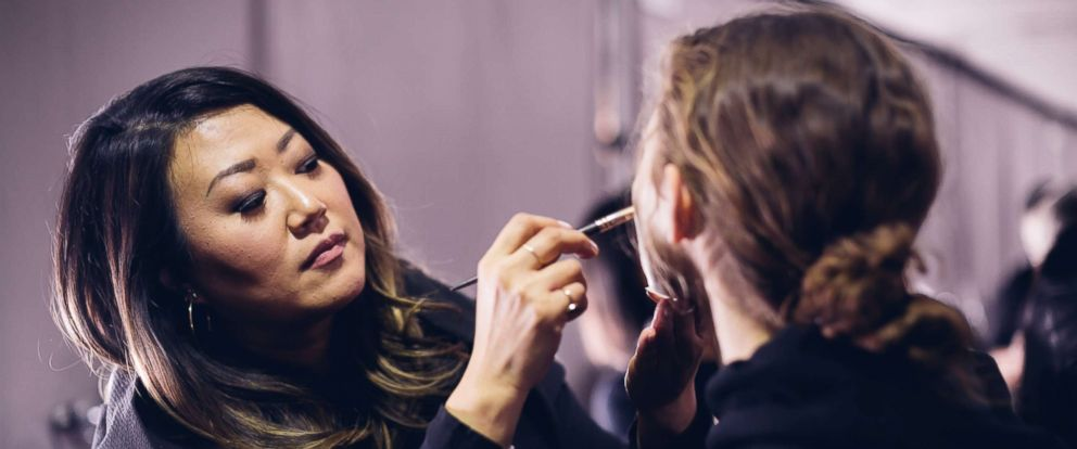 PHOTO: Lead makeup artist for Maybelline New York, Grace Lee, breaks down how she survives New York fashion week.