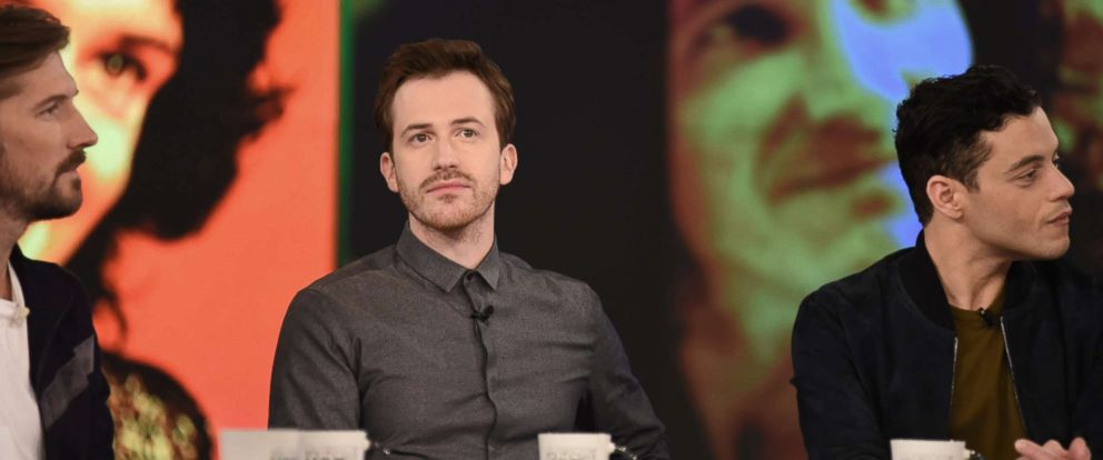 """PHOTO: Joe Mazzello was joined by his """"Bohemian Rhapsody"""" co-stars Gwilym Lee and Rami Malek on """"The View"""" Friday, Nov. 2, 2018."""
